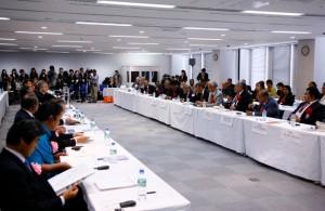 AFDP太平洋島嶼国首脳・経済人会議の様子