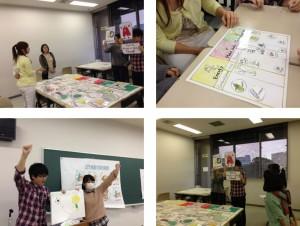 横浜市大生による公衆衛生セミナー事前準備の様子