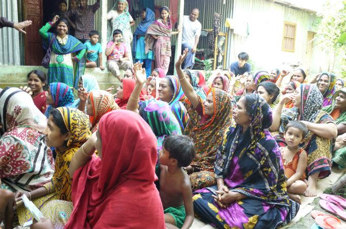 バングラデシュ マイクロファイナンスコース フィールドトリップの様子2
