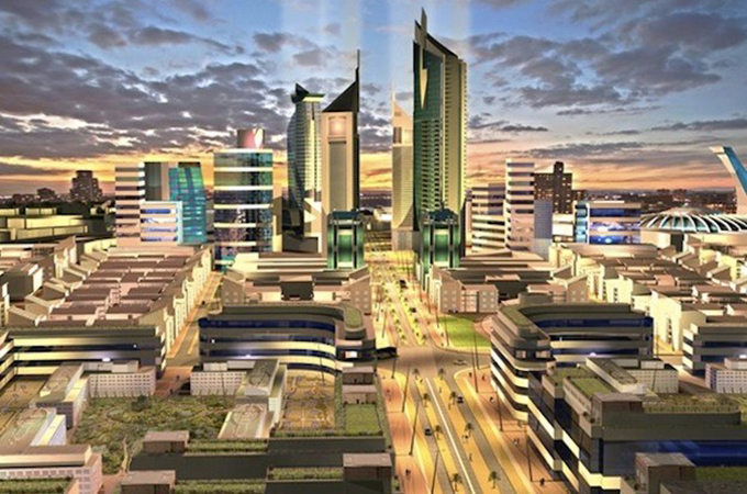 Render of KonzaTechnology City Kenya